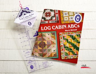 Log Cabin Ruler and Book by Michell at Craft Warehouse