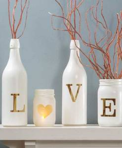 Milk Bottle, Heart, Mason Jar