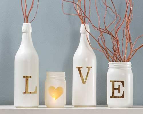 Milk Bottle, Heart, Mason Jar