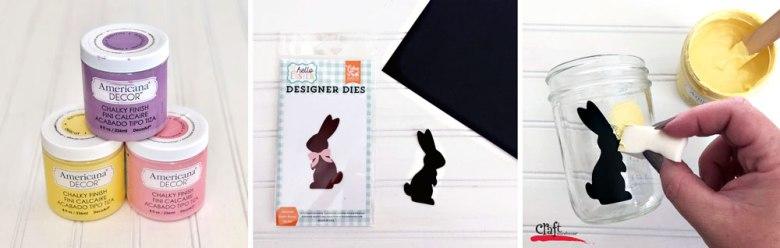 Making Easter Bunny Mason Jars