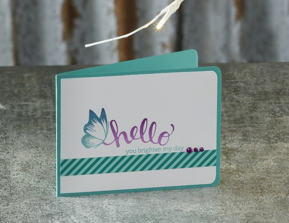 Ombre Inks Card made by Craft Warehouse - Learn how at a store