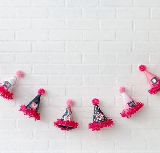 Mini Party Hat Garland at Craft Warehouse