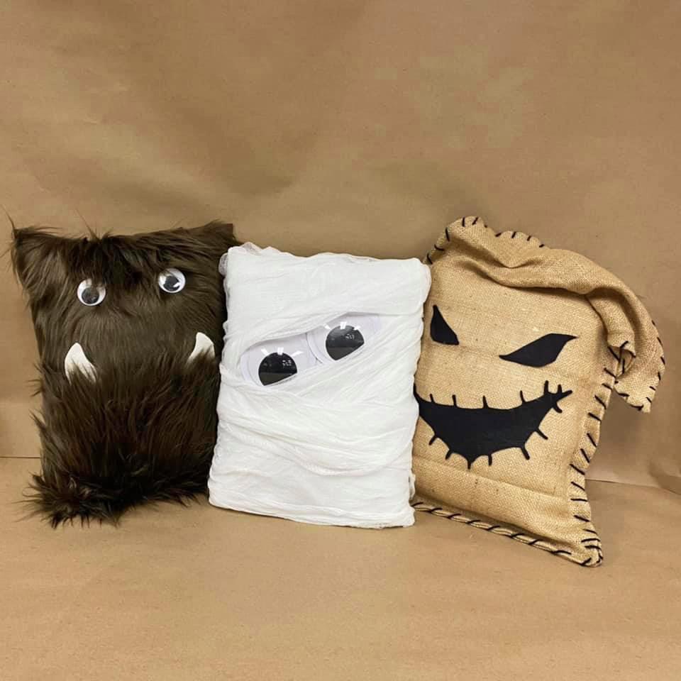 Make a No-Sew Monster Pillows
