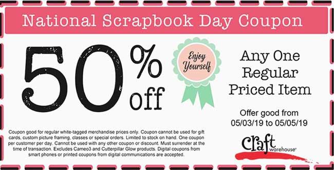 National Scrapbook Day Coupon