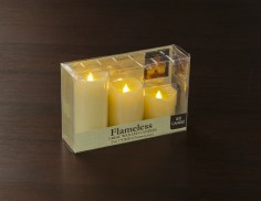 3 flameless led candle set