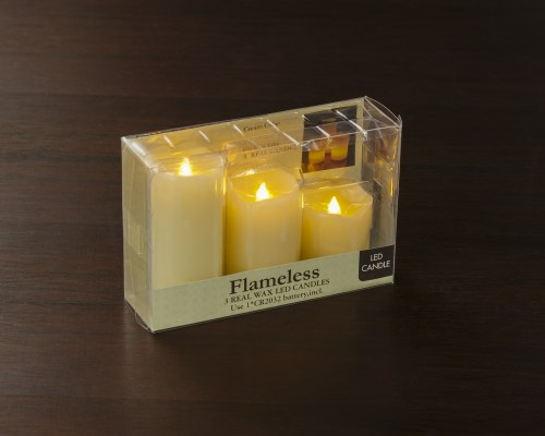 3 flameless led candle set available at Craft Warehouse