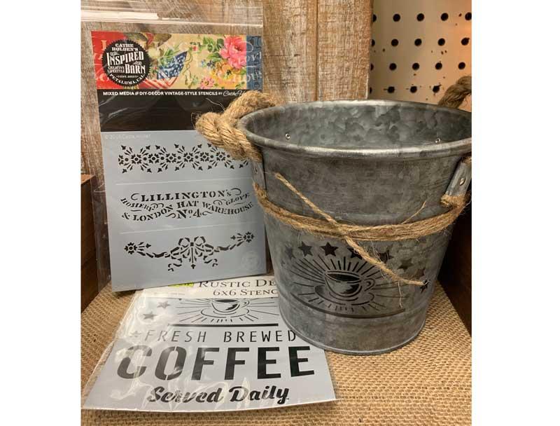 Farm Style Metal Planters/Buckets