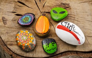 Painted Rocks - The Fun of hiding and Finding them at Craft Warehouse