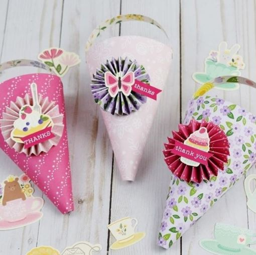 Party Treat Cones made by We R Memory Keepers