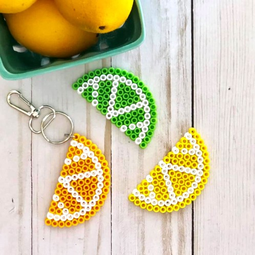 Citrus Slice Perler Bead Projects