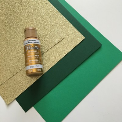 card stock and glitter paper