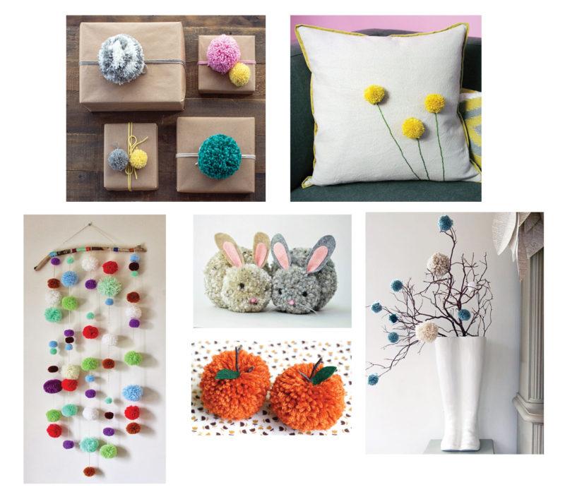 Examples of pom pom crafts