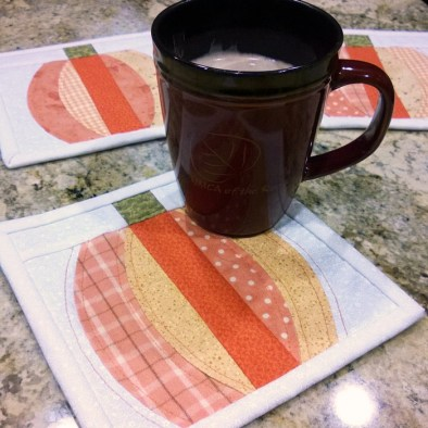 make pumpkin coasters with the qcr ruler