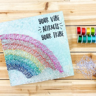 Creating Rainbow Color Wire String Art