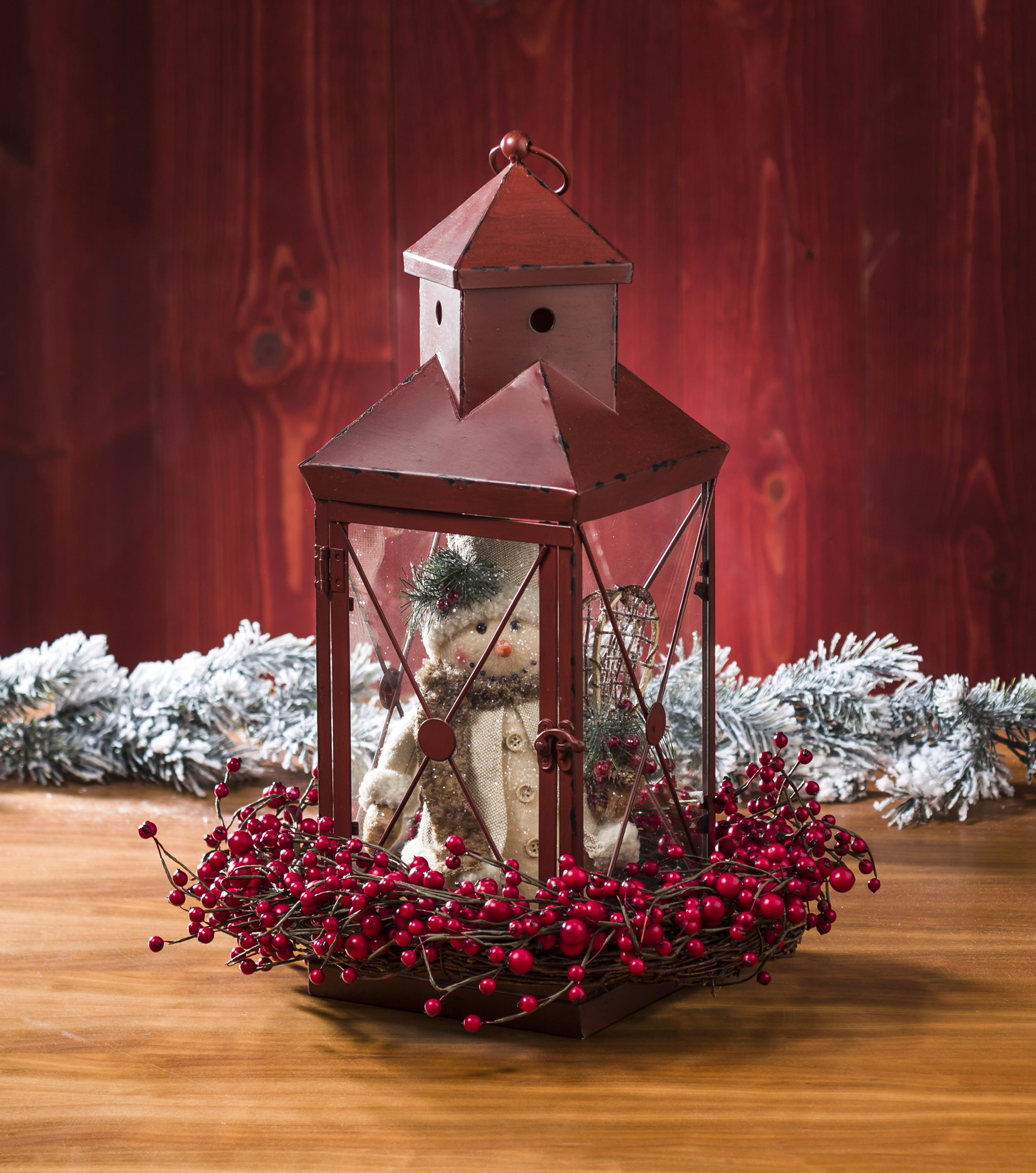 Create a Snowman in a Red Lantern at Craft Warehouse