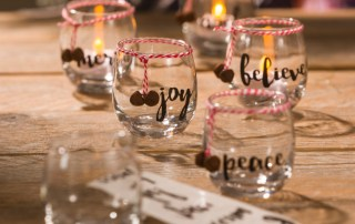 glass votive party wedding candle holder