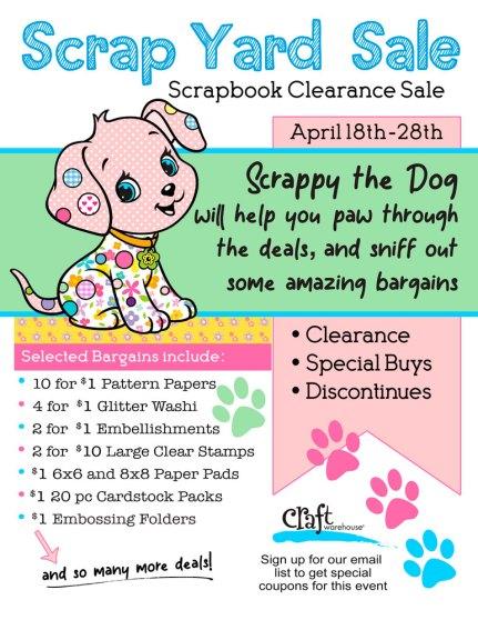 Best Scrapbook Deals at the Scrap Yard Sale