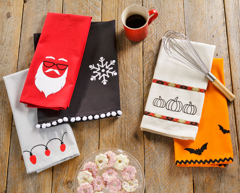 Decorate towels for gifts with iron on sayings and designs