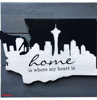 Seattle Skyline Home Sign