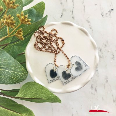 Make this Shrinky Dink Thumbprint Necklace