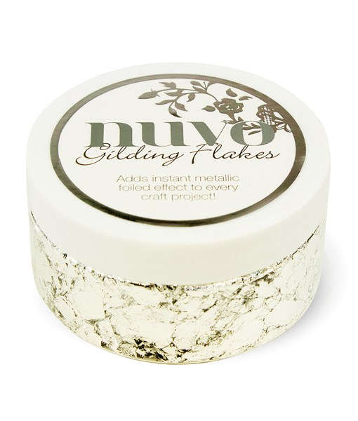 Silver Gilding Flakes from Nuvo at Craft Warehouse