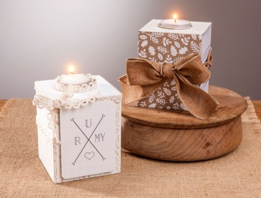 Neutral Rustic Candle Holder
