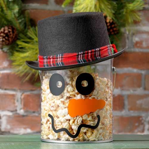 Snowman pail