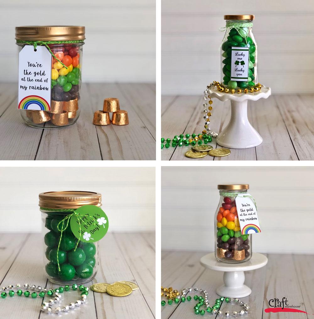 St Patrick S Day Mason Jar Free Printable Labels Craft Warehouse