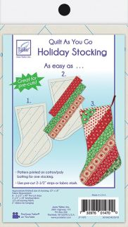 June Tailor Quilt as you Go Stocking Pattern