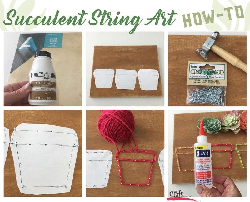 Make this: Succulent String Art