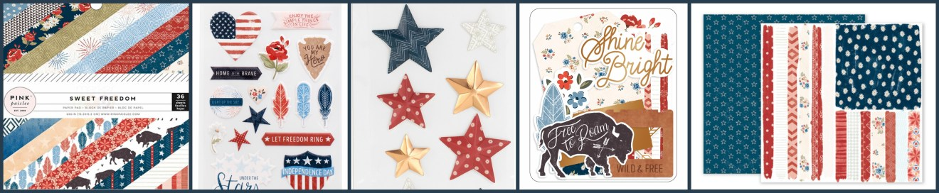 Sweet Freedom Paper Projects Line at Craft Warehouse