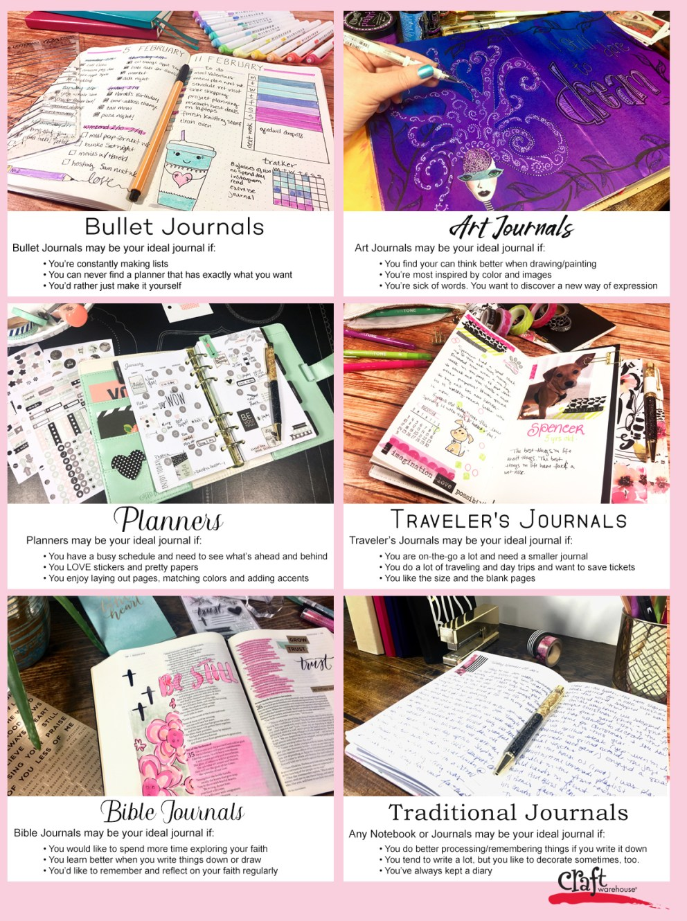 Which Planner or Journal is Right for You?