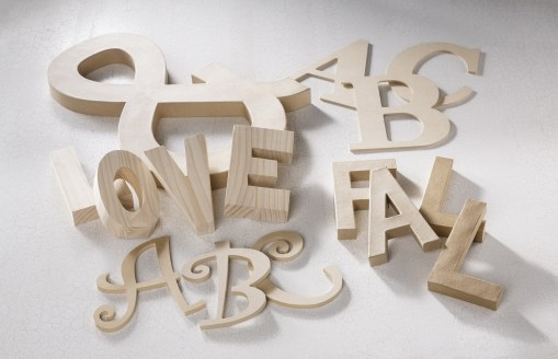 Unfinished letters for all kinds of projects available at Craft Warehouse
