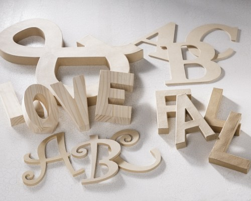 Wood Letters for Projects