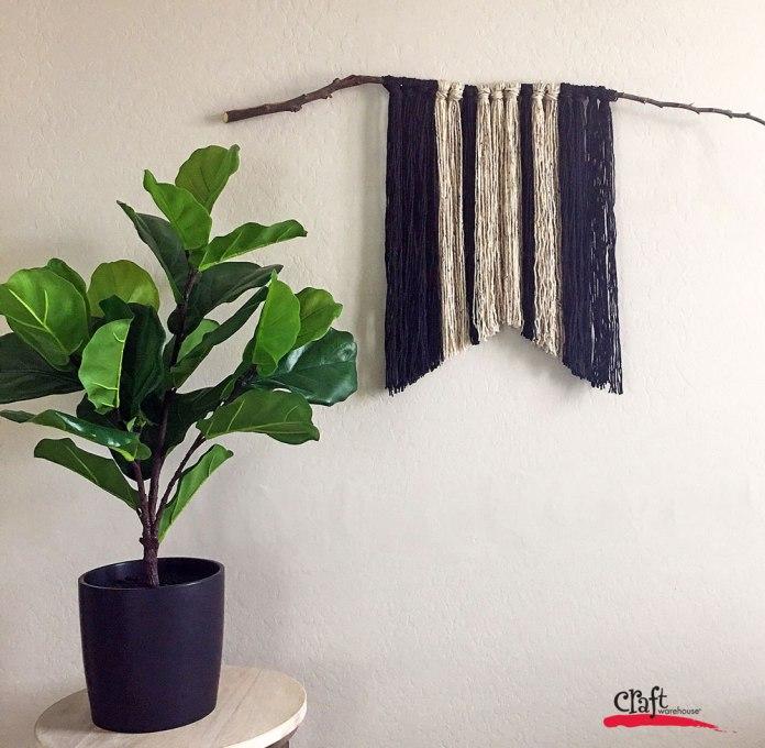 Wood branch yarn wall hanging at Craft Warehouse