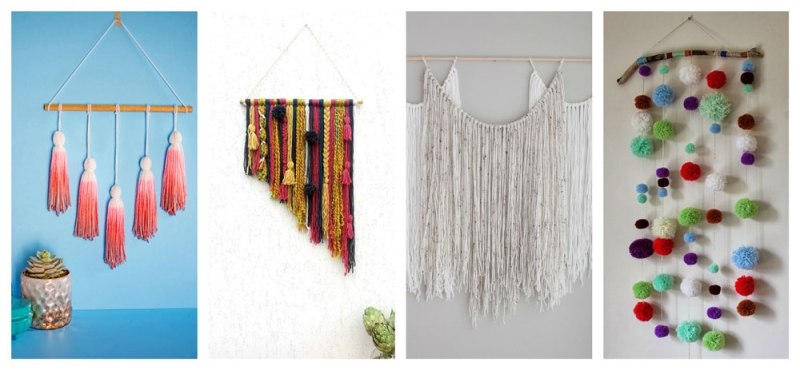 The trend of yarn wall art hangings