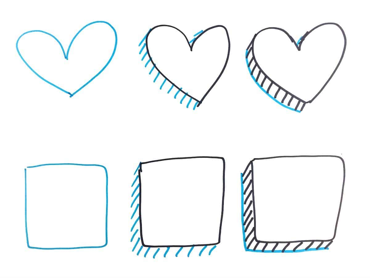 Quick And Easy Draw Some 3d Shapes Craftwhack