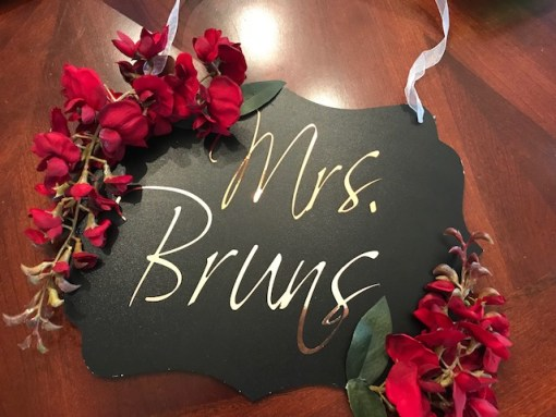 BRIDAL SHOWER CHALKBOARD SIGN