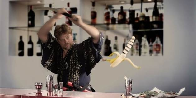 Photo: Become a bartender with a samurai
