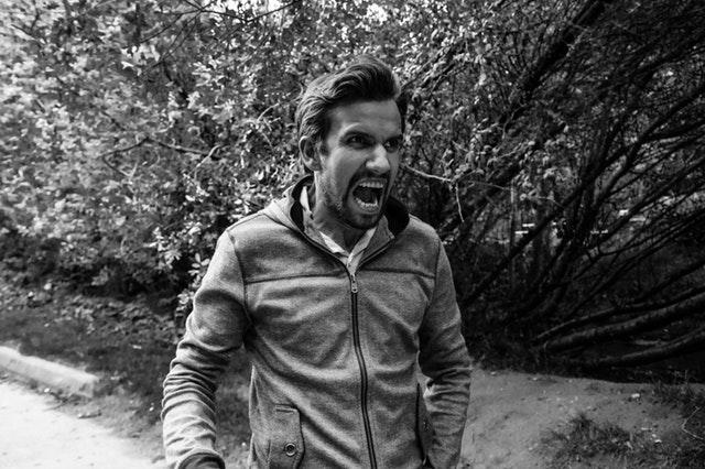 Photo of guy yelling