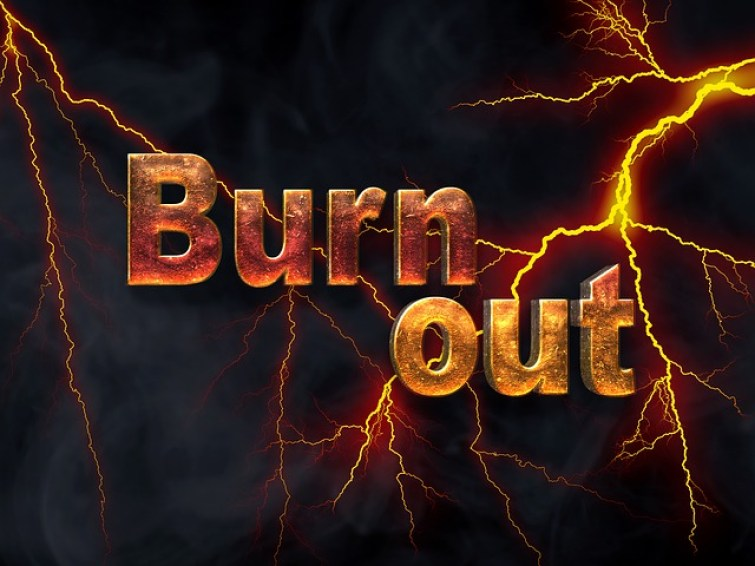 Burn out graphic