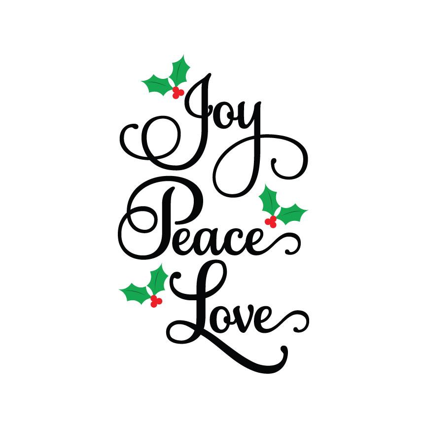 Download Joy Peace Love SVG : Crafty Canada Studio