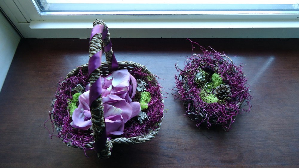 Wedding Details: Ring Bearer Bird's Nest and Flower Girl Basket (5/6)