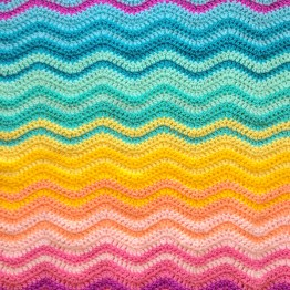 Interlocking Ripple Blanket pattern by Attic24