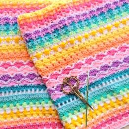 A Spicier Life Blanket pattern by Sandra Paul