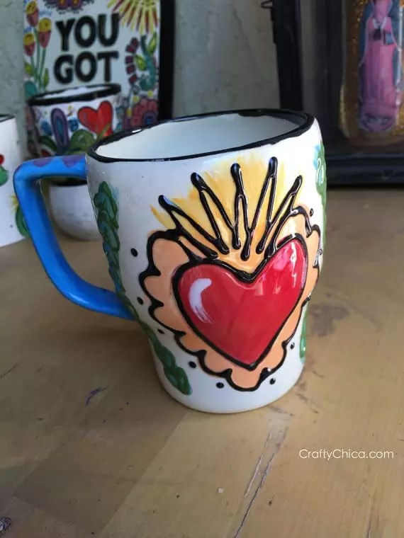 Sugar skull Mug by Crafty Chica.