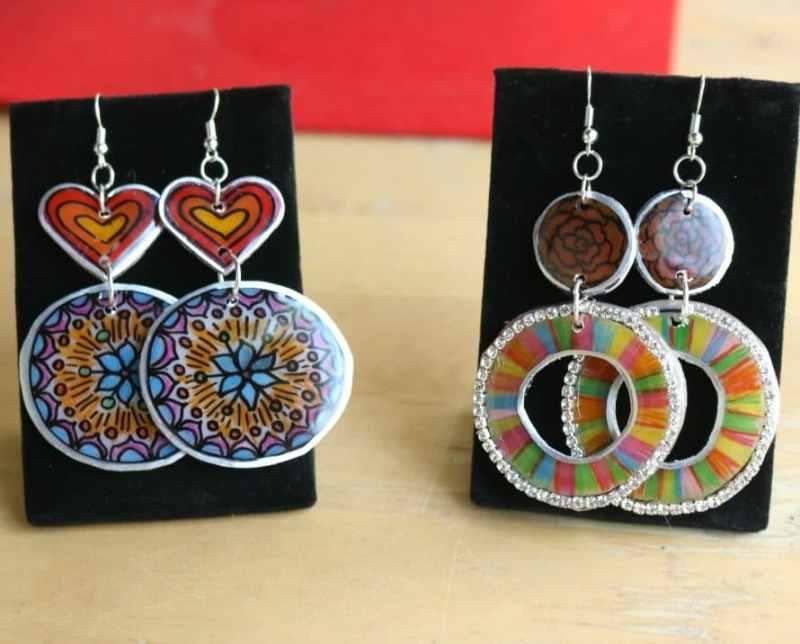 Shrink plastic jewelry