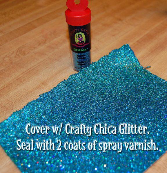 DIY Glittered fabric #craftychiuca #glitterideas
