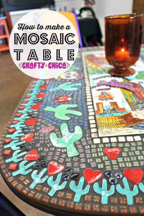 mosaic table top by Crafty Chica