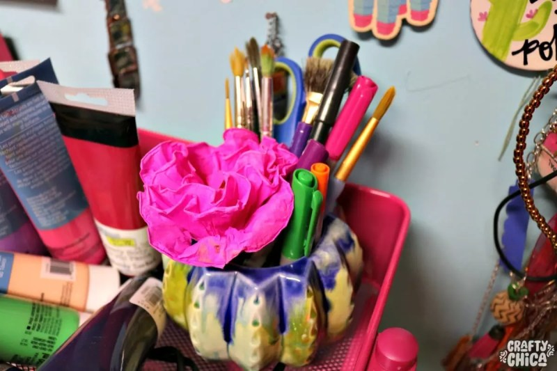 Crafty Chica's craft room tour.